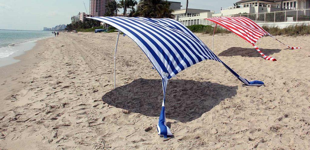 Not your grandmothers beach umbrella. Sun Sail Cabana®