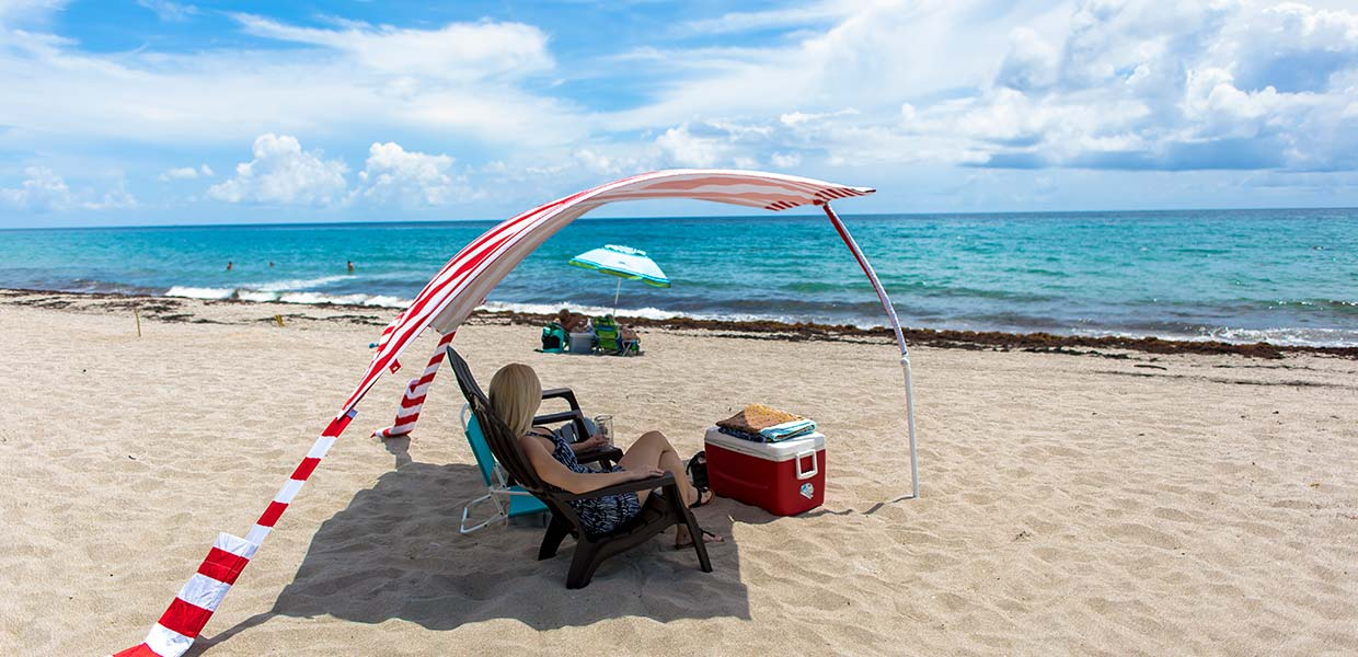 Not your grandmothers beach umbrella. Not your grandmothers beach umbrella. Sun Sail Cabana®
