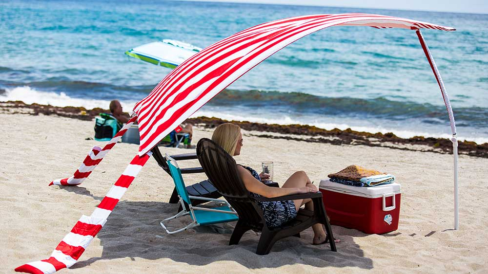 Sun Sail Cabana® Not your grandmothers beach umbrella.
