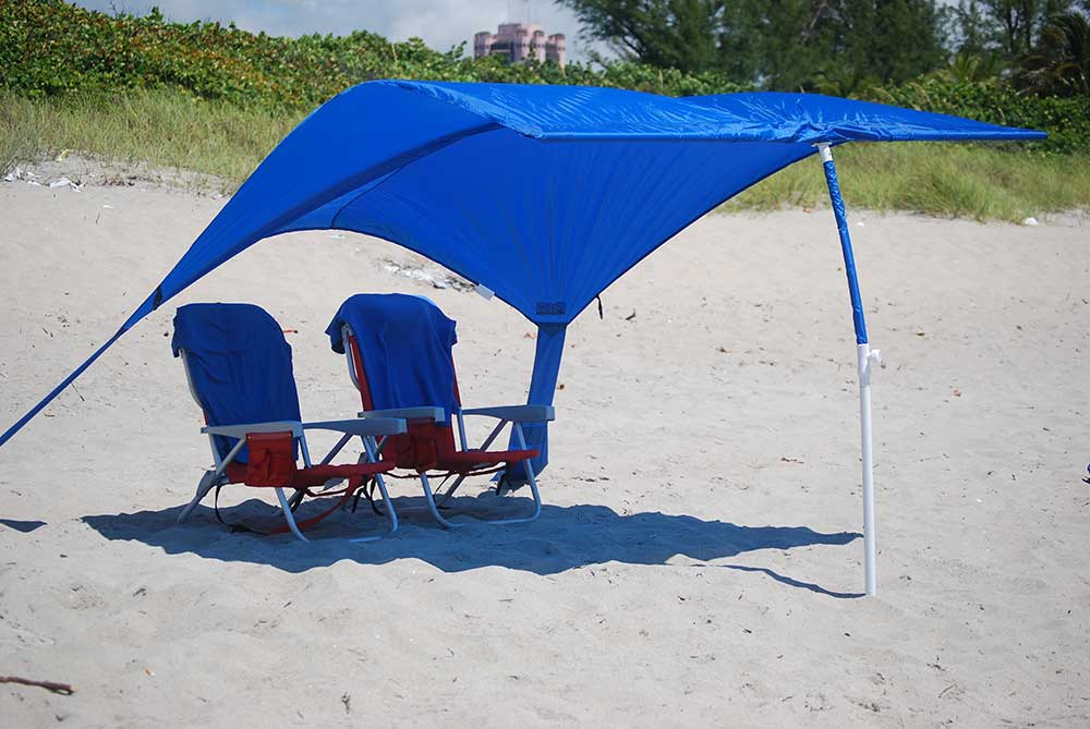 Finally, a beach shade that doesn't blow away in the wind. Sun Sail Cabana®