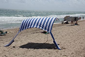 blue & white Sun Sail Cabana®
