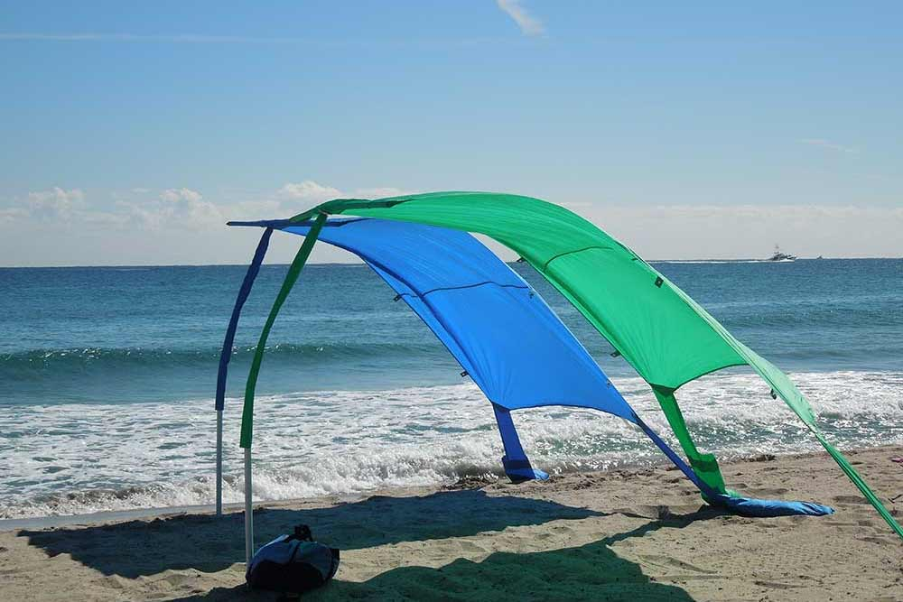 Finally, a beach shade that doesn't blow away in the wind.